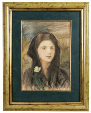 Teodor Axentowicz (1859 Braszów/Rumunia - 1938 Kraków), Portret młodej kobiety