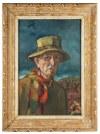 Wlastimil Hofman (1881 Praga - 1970 Szklarska Poręba), Autoportret, ok.1968 r.