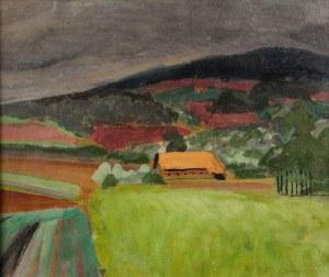 Rafał Malczewski (1892 Kraków - 1965 Montreal), Pejzaż podgórski, ok. 1955 r.