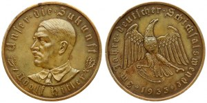 Germany Third Reich Medal 1933 Adolf Hitler (1889-1945). By O. Glöckler. Commemorating Hitler's rise to power. Averse...
