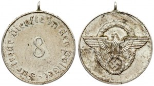 Germany Third Reich Police Medal (1938) service award 3rd level for 8 years. The Police Service Award (1938...