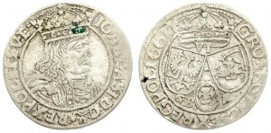 Poland 6 Groszy 1661 GBA Lviv. John II Casimir Vasa (1649–1668). Averse: Large crowned bust right in linear circle...