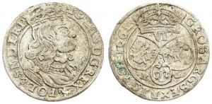 Poland 6 Groszy 1662 NG John II Casimir Vasa (1649–1668). Averse: Large crowned bust right in linear circle. Reverse...