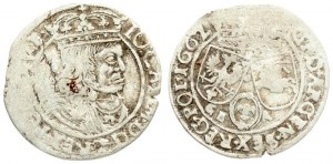 Poland 6 Groszy 1662 GBA Lviv. John II Casimir Vasa (1649–1668). Averse: Large crowned bust right in linear circle...