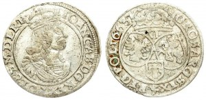 Poland 6 Groszy 1663 AT. John II Casimir Vasa (1649–1668). Averse: Large crowned bust right in linear circle. Reverse...