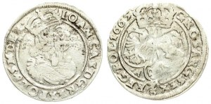 Poland 6 Groszy 1665 AT. John II Casimir Vasa (1649–1668). Averse: Large crowned bust right in linear circle. Reverse...