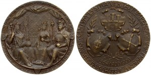 Poland Medal 1900 on the occasion of the jubilee of the Jagiellonian University. Averse: Coats of arms of Krakow...