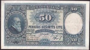 Lithuania  50 Litu 1928 Banknote Pick#24a. № B648.835