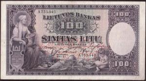 Lithuania  100 Litu 1928 Banknote Pick#25a. № A735.943