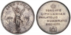 Lithuania commemorative Medal (1968) from The Toronto Lithuanian Philatelic-Numismatic Society...