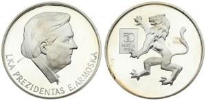 Lithuania Anniversary Medal 1995. Averse: LKA PRESIDENTAS E. ARMOŠKA. Reverse: 50 METU 1995. Silver. Weight approx: 24...