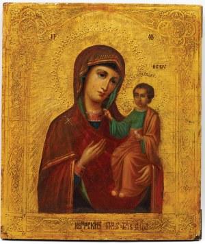 IKONA MATKI BOŻEJ IWERSKIEJ, Rosja, 2 poł. XIX w.