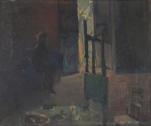 Anna WIEJAK-KARPOWICZ (ur. 1951), Postać w ciemnym wnętrzu, z cyklu: