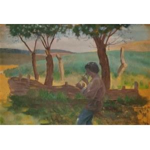 Zbigniew PRONASZKO (1885-1958), Wiejski grajek, 1909