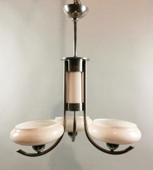 Lampa wisząca art déco, elektryczna, trójramienna
