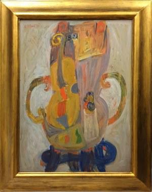 Maurice Blond (1899 Łódź – 1974 Clamart), Pokój z żółtymi skrzypcami, 1971 r.