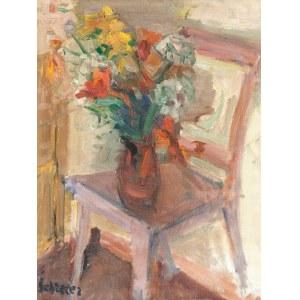 Zygmunt Schreter (1886 Łódź - 1977 Paryż), Krzesło i kwiaty