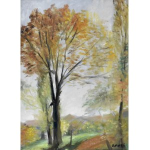 Aneri Irena Weissowa (1888-1981), Jesienne drzewa, 1950