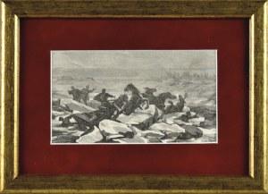 Juliusz Kossak (1824-1899), Katastrofa podczas przeprawy przez Niemen do Malinek - do narzeczonej Pana Mohorta