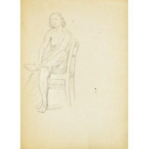 Ludwik Antoni Maciąg (1920-2007), Studium aktu siedzącej na krześle kobiety