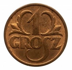 Polska, II Rzeczpospolita 1918-1939, 1 grosz 1937, Warszawa.