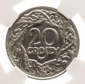 Polska, II Rzeczpospolita 1918-1939, 20 groszy 1923. NGC MS 67