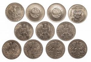 PRL 1944-1989, zestaw 11 monet 10 złotych.