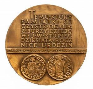 PRL, MEDAL NUMIZMATYCZNY PTAiN, 150. rocznica urodzin Emeryka Hutten-Czapskiego 1978, Łódź.