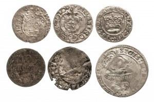 Zestaw 6 monet XVI - XIX wiek.