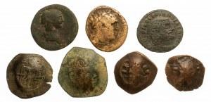 Zestaw 7 monet: Rzym, Bizancjum.