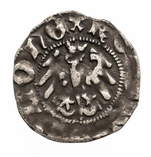 Polska, Władysław Jagiełło 1386–1434, półgrosz koronny 1408–1410, F+, Wschowa.