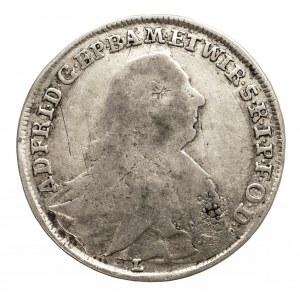 Niemcy, Würzburg-Bistum 20 Kreuzer 1763 L Adam Friedrich von Seinsheim 1755-1779.