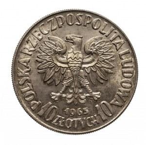 Polska, PRL 1944-1989, 10 złotych 1965, VII wieków Warszawy, próba