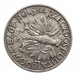 Polska, PRL 1944-1989, 5 złotych 1973 Rybak. destrukt - obrotka