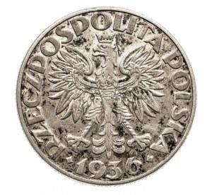 Polska, II Rzeczpospolita 1918-1939, 5 złotych 1936 Żaglowiec