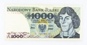 Polska, PRL 1944 - 1989, 1000 ZŁOTYCH 2.07.1975, seria L.