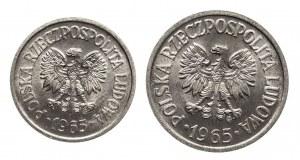 Polska, PRL 1944-1989, zestaw: 10 groszy 1965, 20 groszy 1965