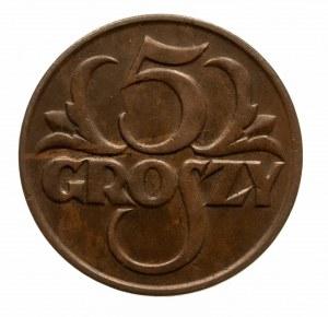 Polska, II Rzeczpospolita 1918-1939, 5 groszy 1925, Warszawa.