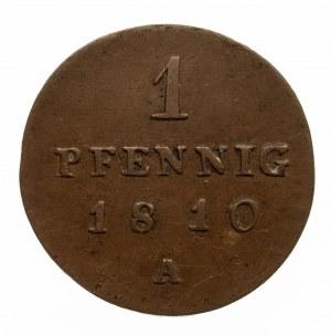 Niemcy, Prusy, 1 fenig 1810 A,