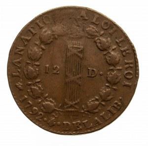Francja, Ludwig XVI 1774 - 1793, 12 diner 1792, Dijon