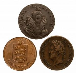 Zestaw 3 monet miedzianych