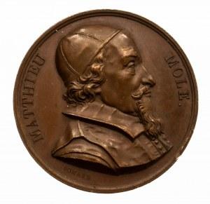 Francja, medal upamiętniający Mathieu Mole z 1821 r.