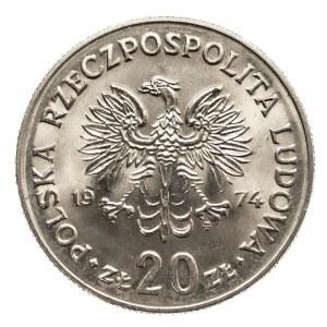 Polska, PRL 1944-1989, 20 złotych 1974 Nowotko,