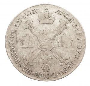 Austria, Niderlandy, Leopold II, 1/4 talara 1792 A, Wiedeń (3)