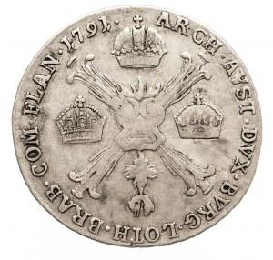 Austria, Niderlandy, Leopold II, 1/4 talara 1791 H, Gunzburg (1)