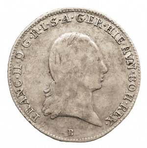 Austria, Niderlandy, Franciszek II, 1/4 talara 1793 B, Kremnica