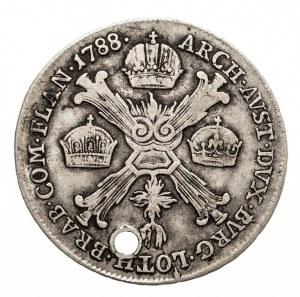 Austria, Niderlandy, Józef II, 1/4 talara 1788 B, Kremnica