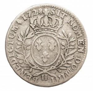 Francja, Ludwik XV 1715-1774, 1/2 ecu 1728 H, La Rochelle