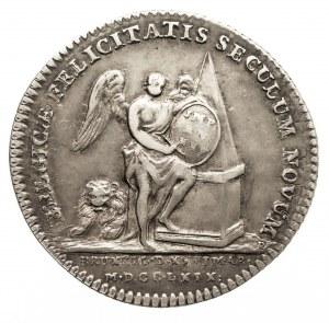 Austria, Niderlandy, Karol Aleksander Lotaryński 1712-1780, żeton z 1769 roku