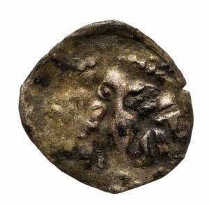 Polska, Jadwiga i Władysław Jagiełło 1386–1399, denar bez daty (1386-1399), Wschowa